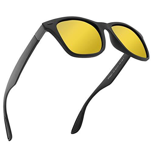 DOVAVA Nachtsichtbrille Blendschutz Nachtfahrbrille für Herren und Damen HD Polarisiert Ultra Light Nachtbrille