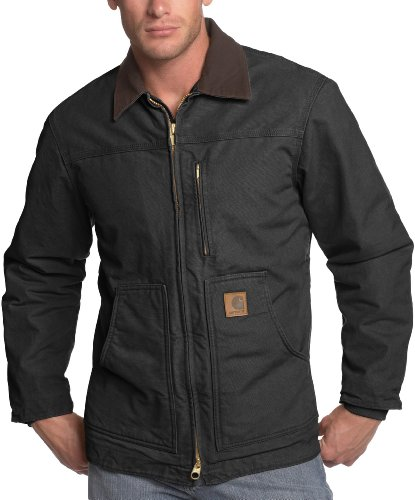 Carhartt C61 - Abrigo para hombre, con forro Sherpa, color negro, talla...