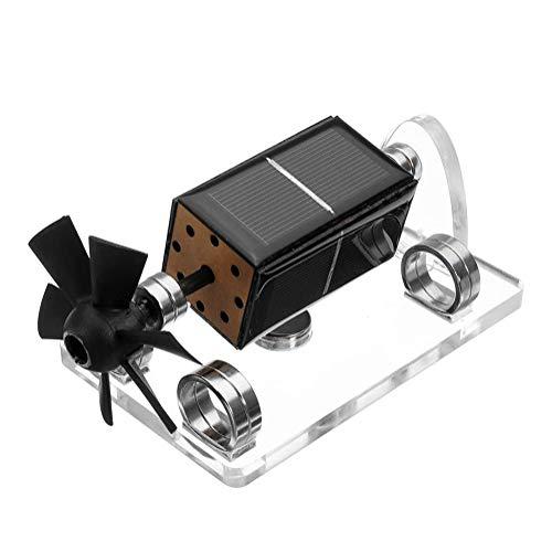 Motor de Levitación Magnética Solar Ciencia física Modelo Educativo, Rotación automática a la luz del Sol, Decoración de Oficina en casa Desk Tech Toys