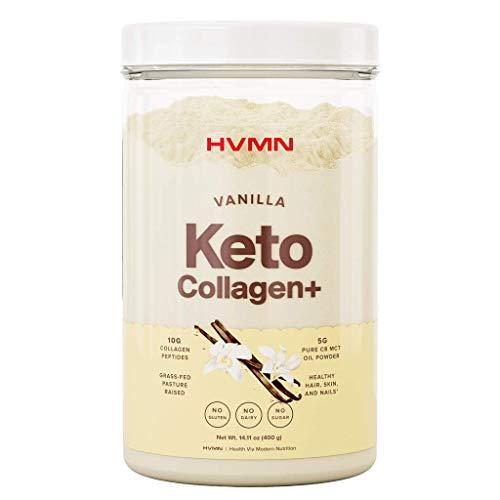 H.V.M.N. Keto Collagen+ Protein Powder: Collagen Supplement with Collagen Peptides & MCT Powder - Keto Diet Approved - 25 Servings (Vanilla)
