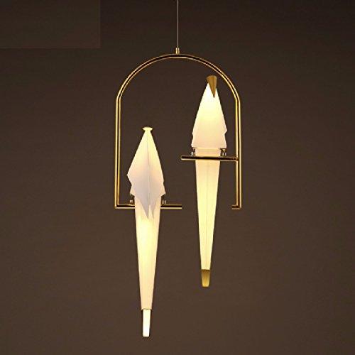 CNBBGJ Restaurante creativo nórdicos colgante pájaro de origami, simple dormitorio balcón diseño decorativa iluminación colgante,B