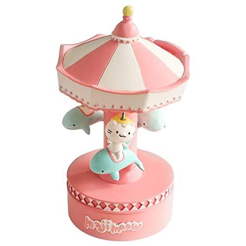 guoqunshop Carillon Vintage Bellissimo Carillon Rotante, luci a LED di Lusso Incandescente Regalo di San Valentino for Il Compleanno di Natale Giocattolo