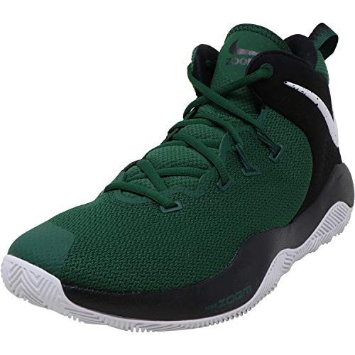 Nike New Zoom Rev II Basketball Shoe Men 14/Wmn 15.5 AO5386 Green/White