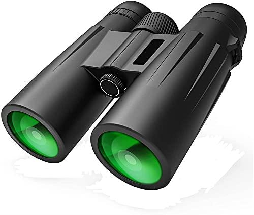 Telescopio para Adultos, prismáticos de 10x42 para Adultos, niños, prismáticos Resistentes al Agua de la Vida compactos con la Noche en Condiciones de Poca luz BAK123 Prism FMC Optics Binoculares te