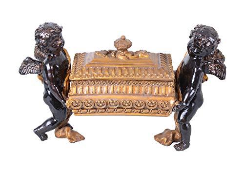Prachtvolle Schmuckschatulle mit Zwei Engeln Barock Stil IS200 Palazzo Exklusiv