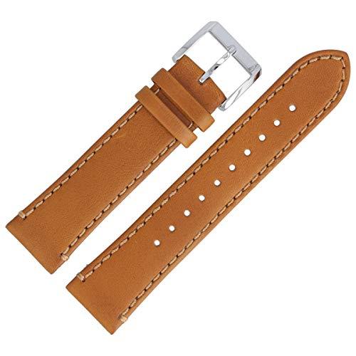 Hugo Boss Uhrenarmband 22mm Leder Braun Glatt - 659302688
