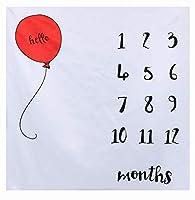 寝相アート マット ブランケット 1ヶ月 100日 祝い 赤ちゃん インスタ映え 記念写真 撮影 背景 誕生日 メモリアルグッズ 成長記録 ハーフバースデー 飾り 出産祝い 男の子 女の子 (デザイン3)
