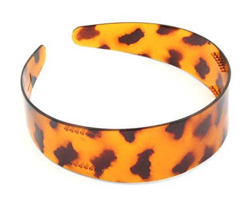 Wide Tortoise Shell Leopard Print Alice Band Hair Accessories by Zest by Zest