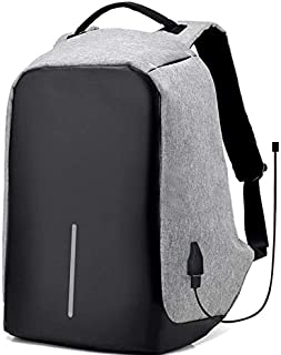 Waterproof anti theft laptop back bag with USB charger outlet