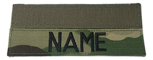 Custom Military Name Tape, with Fastener or Sew-On, US ARMY USAF USMC POLICE CivilAirPatrol Tape (With Fastener, Multicam OCP)