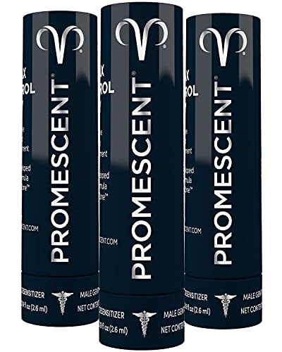 Promescent Prolonging Delay Spray for Men (3 Travel Size Pack) Unique Topical Lidocaine Formula for Better and Maximized Sensation and Climax - Size 2.6 ml