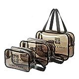 Edary - Borsa da toilette in PVC trasparente per viaggi, borsa da viaggio, custodia per cosmetici, impermeabile, per donne, uomini e bambini, Grigio (Grigio) - Makeup bag-025