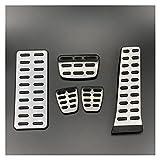 Pedal del Coche Caso de la Cubierta del Pedal del Embrague del Acelerador del Freno del Estilo de Estilo de Estilo Compatible con Hyundai IX35 Sonata 8 Mistra I35 Santa FE Auto Accesorios Aluminio