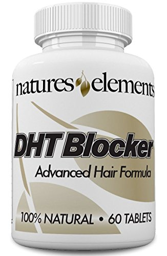 DHT Blocker for Hair Growth and Gray Hair - Unique DHT Blocking Vitamin and Herbal Formula for Hair Regrowth and Gray Hair with He Shou Wu - for Men and Women! - 1 Month Supply - Vegetarian Safe