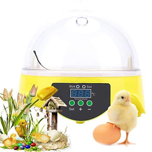 Ei-Incubatoren Voor Broedeieren - Mini-Temperatuur Automatische Bediening Ei-Incubator Met LED-Digitaal Scherm Voor Kippen Eenden Gansbroedgereedschap, Geschikt Voor Maximaal 7 Eieren