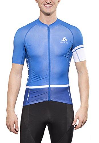 Odlo Herren Trikot Stand-Up Collar Short Sleeve Full Zip Tourmalet, Turkish Sea-Indigo, M