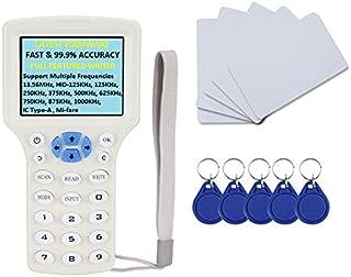 Rubik Advanced RFID Copier 13.56MHz HID-125KHz Reader Writer, IC/ID/HID/UID RFID 10 Frequency Copier Duplicator With USB C...
