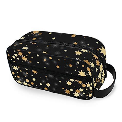 Trousse de toilette Organisateur Golden Star Dots Voyage De Stockage Outils Portatifs Cosmétique Train Case Maquillage Sac