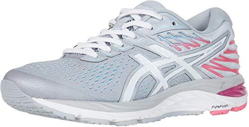 ASICS Women's Gel-Cumulus 21 (D) Running Shoes, 6.5W, Piedmont Grey/White
