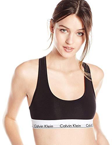 Calvin Klein Women's Regular Modern Cotton Bralette, Black, XL