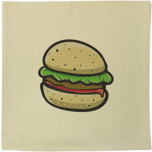 Azeeda 40cm x 40cm 'Burger' Canvas Cushion Cover (CV00017836)