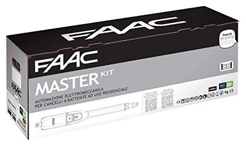 Faac Master Kit 415 230V Automazione Cancello Battente Cancelli Anta Larghezza max Singola Anta 2,5 m (3 m con elettroserratura) Uso Residenziale 104415445