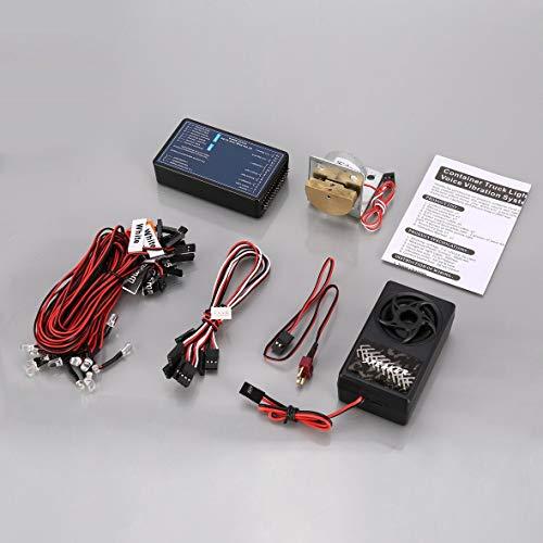 Heaviesk GT Power Sistema de iluminación y Sistema de vibración de Voz RC Kit de Piezas de automóvil para Tamiya RC4WD Tractor RC Accesorios de vehículo automotriz