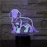 Dachshund Perro Dachshund habitación Infantil lámpara de Mesa con luz Nocturna Wiener Perro Mascota Cachorro Brillante lámpara Fantasma iluminación Decorativa