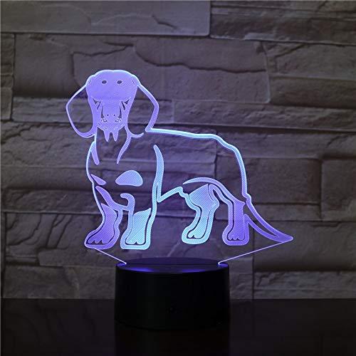 Dackel Hund Dackel Kinderzimmer Nachtlicht Tischlampe Wiener Hund Haustier Welpe leuchtende Phantomlampe dekorative Beleuchtung