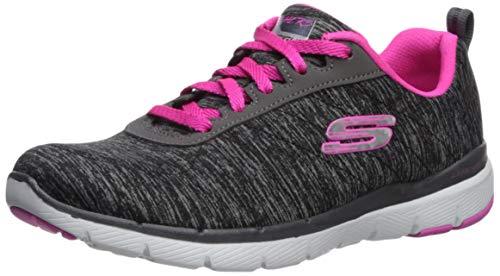 Skechers Damen Flex Appeal 3.0-insiders Sneaker , Schwarz (Black/Pink) , 39 EU