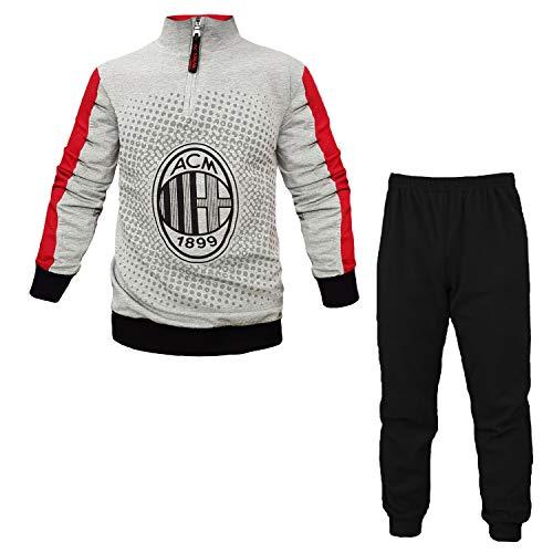 Milan Schlafanzug, offiziell, für Herren, für Erwachsene, MI084GR, NEROGRIGIO, S/46