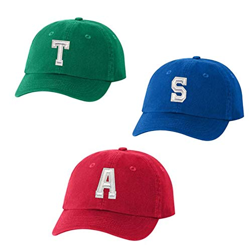 Alvin and The Chipmunks Kids Hats Red Blue Green Dad Baseball Style Hats with Adjustable Strap Simon Alvin Theodore Costume (All Three Hats)