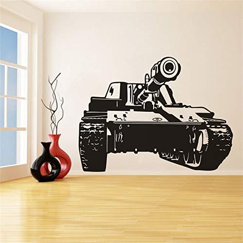 yaonuli Réservoir Militaire Vinyle Autocollant Mural décoration Murale Troupe réservoir Sticker Mural Militaire 199X88 cm