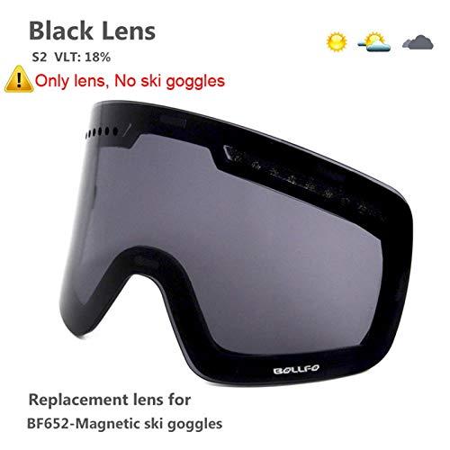 N\A Gafas de esquí para deportes al aire libre con lente polarizada magnética de doble capa para esquí, antivaho, UV400, gafas de esquí, gafas de esquí para hombre y mujer, color negro