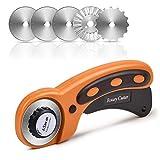 Sopito Cortador rotatorio de 45 mm con 5 hojas de repuesto para Elaboración De coser Acolchado Tela Cortador de rueda