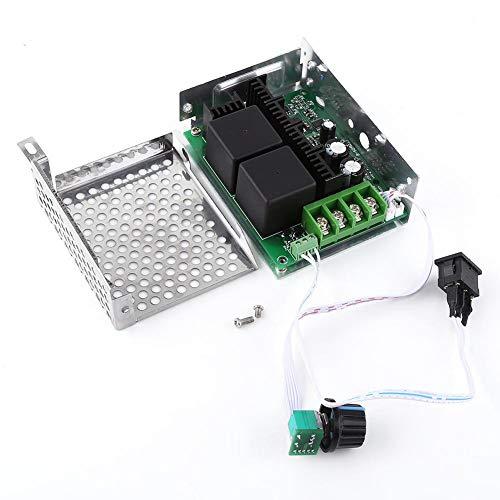 Controlador Velocidad Motor de DC, 10V-50V (12V / 24V / 36V / 48V) Controlador de velocidad 40A por corriente de regulación, regulador de motor con interruptor de dirección de inversión, 110 x