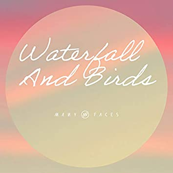 Waterfall And Birds