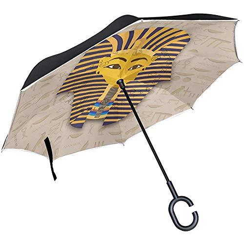 ETGeed Tutanchamun Maske Inverted Umbrella ReverseUpside Down Umbrella