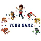 Paw Patrol Personalized Kids Name Wall Decal