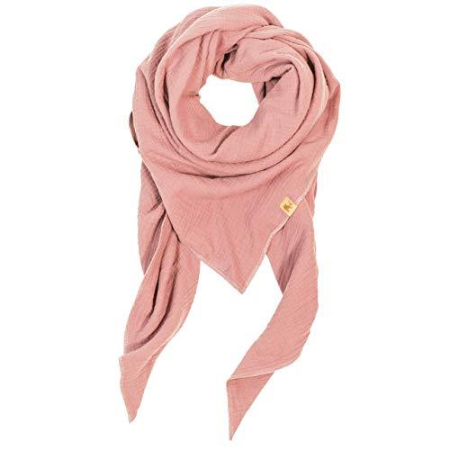 XXL Tuch rosa rosé Farbwahl Halstuch Musselintuch Musselin Damen Damenhalstuch Dreieckstuch Schal Frauen
