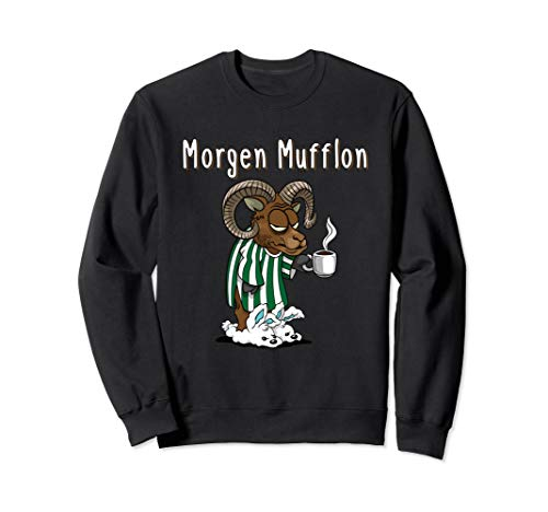 Lustiges Morgen Mufflon Morgenmuffel Kaffee Geschenk Sweatshirt