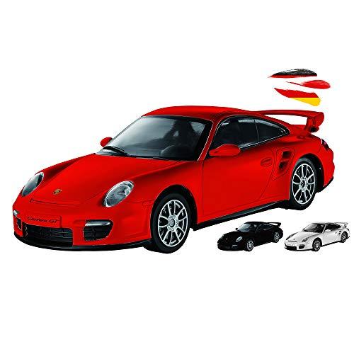 RC ferngesteuertes Fahrzeug im original lizenzierten kompatibel mit Porsche 911 GT2 Top-Design, Modell-BAU Auto, Car mit LED-Beleuchtung im Maßstab 1:16 inkl. Fernsteuerung