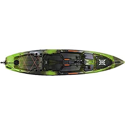 Perception Pescador Pilot 12 | Sit on Top Fishing Kayak | Pedal Drive | Multi-Water Angler Kayak | 12'