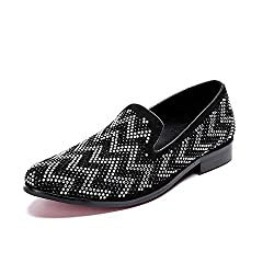 Oxford Shoes Casual Glitter Sequins In Black & Silver
