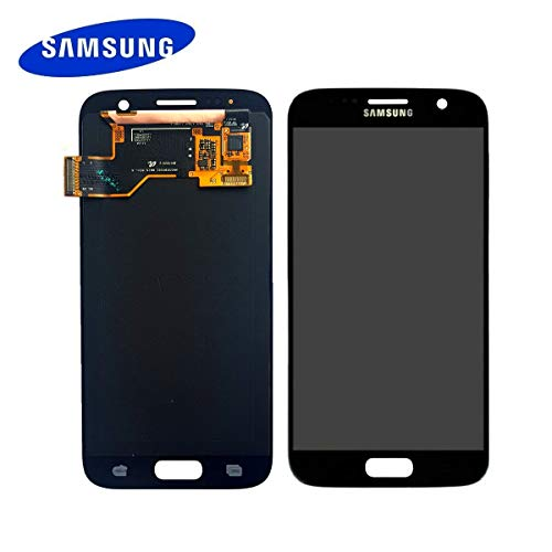 Original Samsung Galaxy S7 G930F LCD AMOLED Display Touchscreen Digitizer Schwarz Service Ersatzteil GH97-18523A