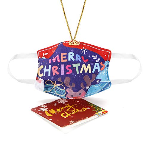 SAM & LORI Face Mask Ornament 2020 Mini Fabric Mask Christmas Ornament Xmas Tree Pandemic Covid Ornament Personalized Creative Funny for Christmas Tree Decorations with The Year