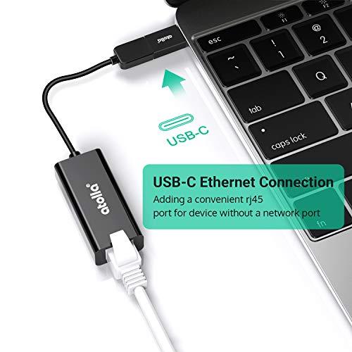 atolla USB LAN Adapter, USB 3.0 zu RJ45 Gigabit Ethernet Adapter, Netzwerkadapter 10/100/1000Mbps mit USB C Adapter für Windows XP/Vista/7/8/8.1/10, Mac OS, Chrome OS, Linux