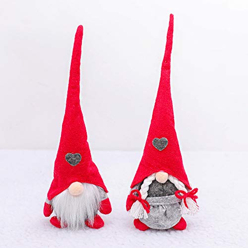 Hilif Gnomi di Natale in peluche lavorato a maglia a forma di Babbo Natale, Gonk Elfo nano, decorazione da tavolo, decorazione domestica senza volto per bambole regali