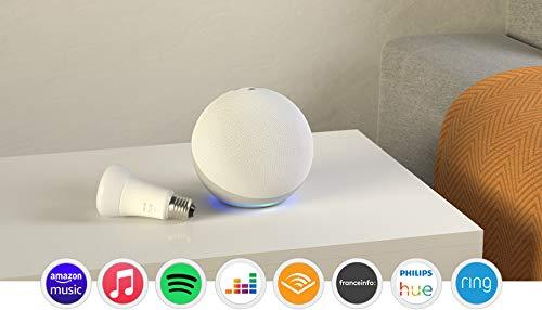 Nouvel Echo (4e génération), Blanc + Ampoule connectée Philips Hue