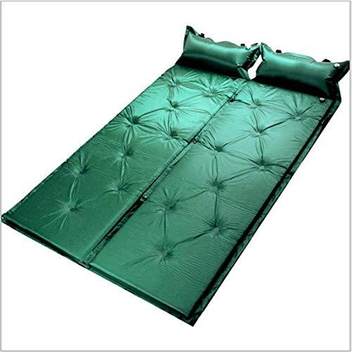 PrittUHU 2019 autoinflando el Rollo de Camping Alfombra de colchoneta para Dormir de poliéster al Aire Libre al Aire Libre Inflable Almohada Almohada (Color : Green)